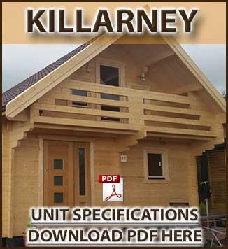 Killarney Timber Houses and Log Cabins in Dublin and Ireland Brochure in Dublin and Ireland. We manufacture and fit timber and log cabins in Ireland.